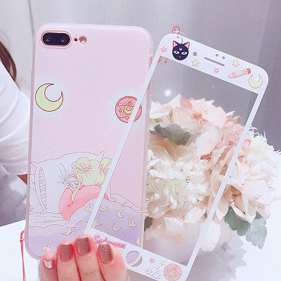 Pink Sailormoon Sleep Phone Case for iphone 6/6s/6plus/7/7plus/8/8plus/X/XS/XR/XS Max/11/11pro/11pro max PN0109