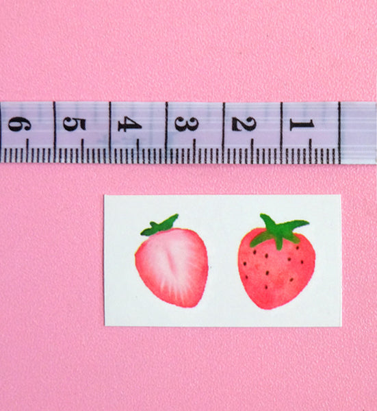 Cute Strawberry And Heart Tattoo Paste PN0565