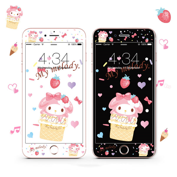 Cute My melody Phone Tempered Film for iphone 6/6s/6plus/7/7plus/8/8plus PN1893