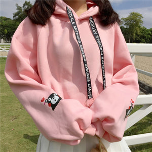 Cartoon Bear Loose Hoodie PN1304