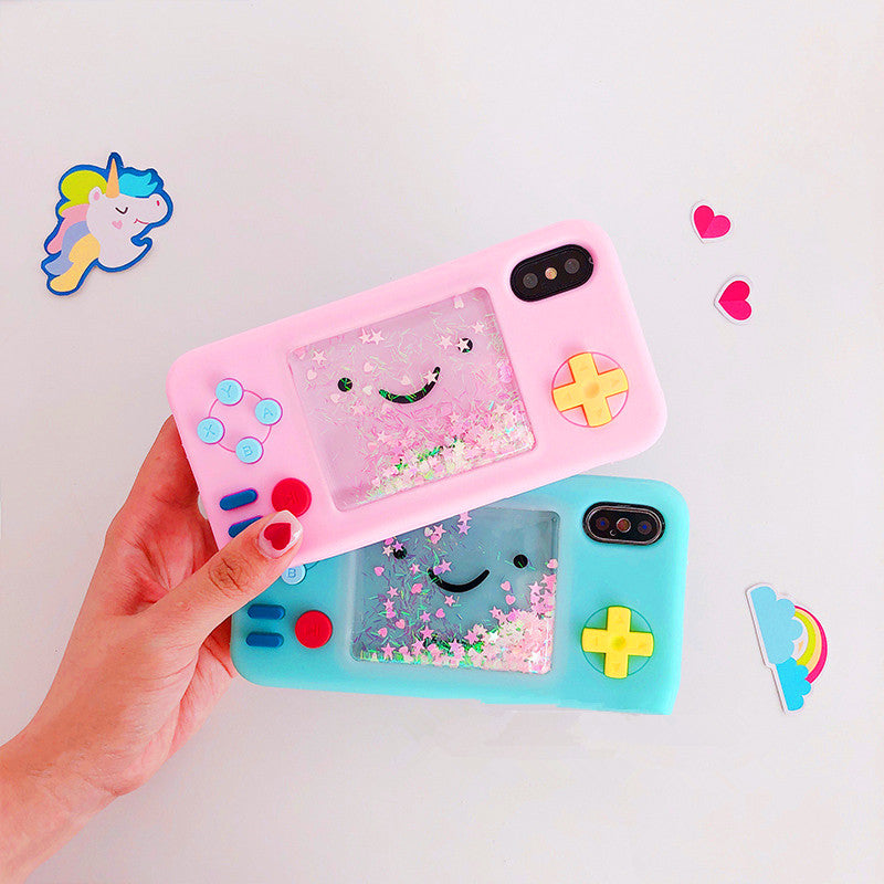Kawaii Liquid Game Consoles Phone Case for iphone 6/6s/6plus/7/7plus/8/8P/X/XS/XR/XsMax PN0031