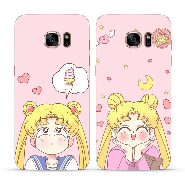 Kawaii Sailor Moon Phone Case for iphone 6/6p/7/8/7p/8p/X/XS/XR/XS Max/ Samsung note8/s6/s6edge/s7/s7edge/s8/s8plus/s9/s9plus PN0073