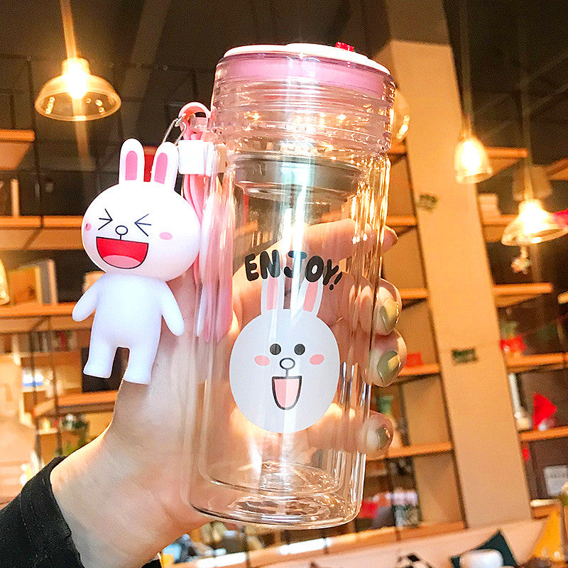 Rabbit And Bear Water Glass Cups  PN0021
