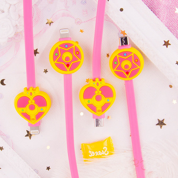 Kawaii Sailormoon Charging Cable For Iphone and Android PN0472