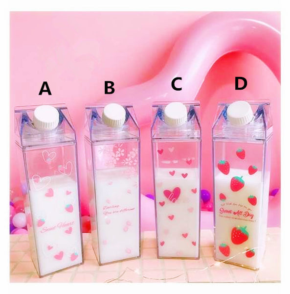 Kawaii Strawberry And Heart Water Cups  PN0010