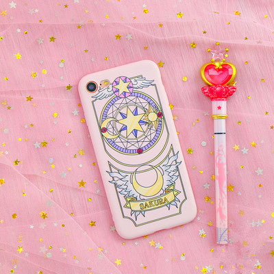 Sakura And Sailormoon Phone Case for iphone 6/6s/6plus/7/7plus/8/8plus/X PN0061