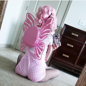 Pink Butterfly Wings Shoulder Bag PN0343