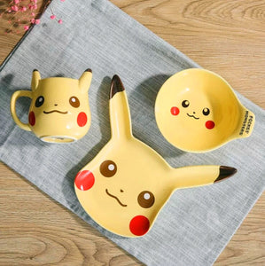 Pokemon Ceramic Cup Bowl And Dish PN0012