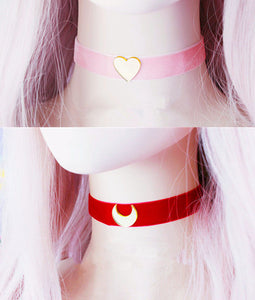 Sailor Moon Heart And Star Chokers PN0454