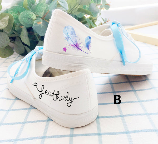 Kawaii Strawberry And Feather Shoes PN0375