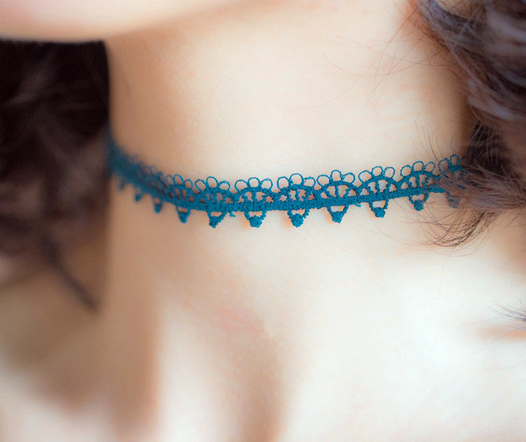 Original designed Embroider Floral Choker PN0381