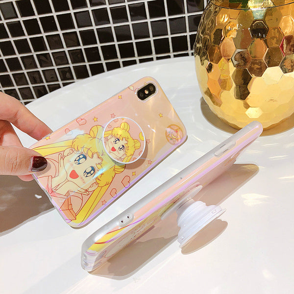 Cute Sailormoon Gasbag Ring Phone Case for iphone 6/6s/6plus/7/7plus/8/8P/X/XS//XR/XS Max/11/11pro/11pro max PN0036