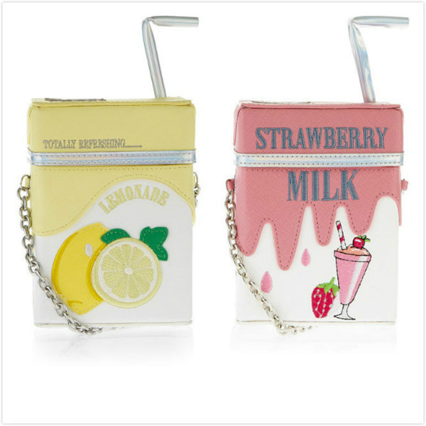 With Strawberry and Milk Shoulder Bag PN0309