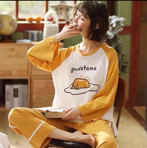Kawaii Gudetama Pajamas Suits Set PN1624