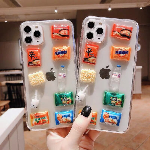 Kawaii Snacks Phone Case for iphone 6/6s/6plus/6splus/7/7plus/8/8plus/X/XS/XR/XS Max/11/11pro/11pro Max/12/12pro/12mini/12pro max PN2083