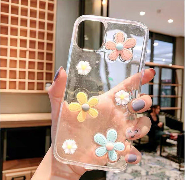 Cute Flowers Phone Case for iphone 6/6s/6plus/6splus/7/7plus/8/8plus/X/XS/XS Max/11/11pro/11pro Max/SE PN2641