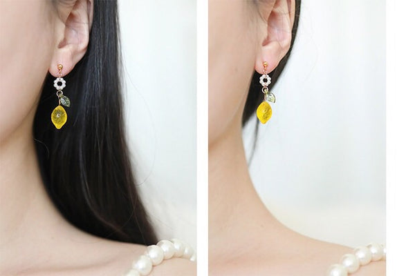 Cute Lemon Earrings/Clips PN2522