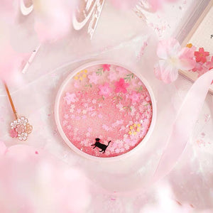 Kawaii Sakura And Cat Cup Mat PN3369