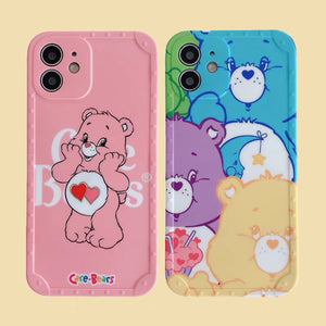 Cute Bear Phone Case for iphone 7/7plus/8/8P/SE2/X/XS/XR/XS Max/11/11pro/11pro max/12/12mini/12pro/12pro max PN3867