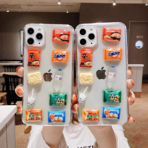 Kawaii Snacks Phone Case for iphone 6/6s/6plus/6splus/7/7plus/8/8plus/X/XS/XR/XS Max/11/11pro/11pro Max PN2083