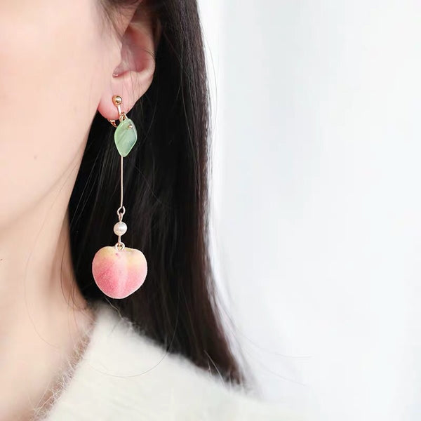 New Pink Peach Earrings/Clips PN2507