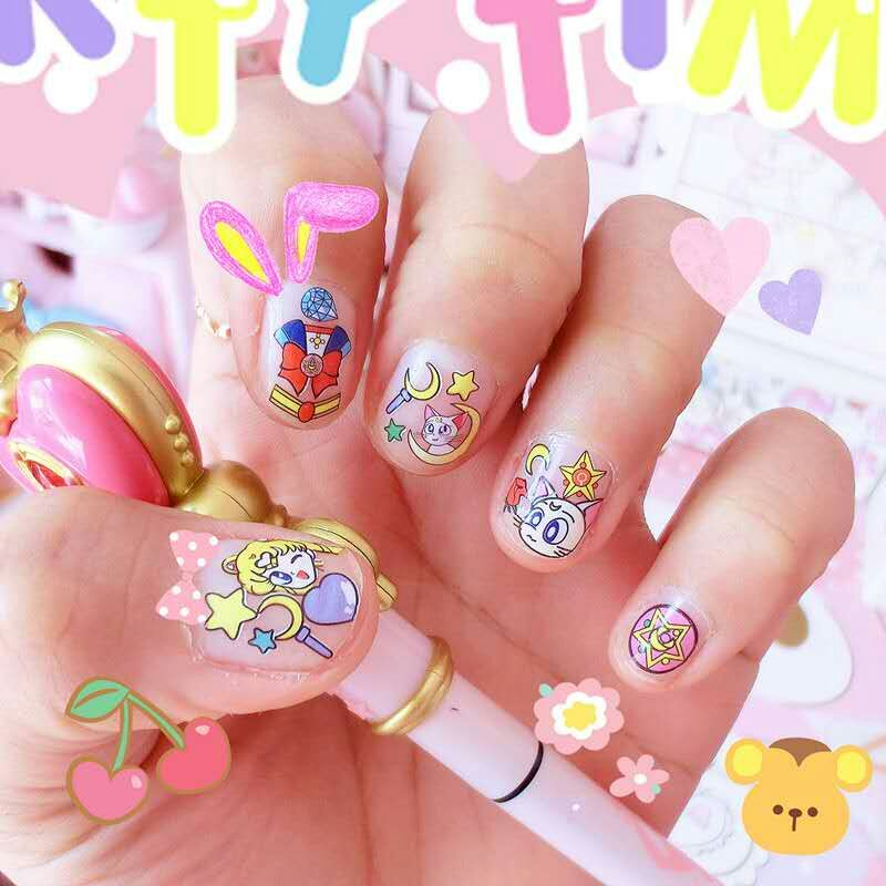 Cute Sailor Moon Nail Stickers PN0432