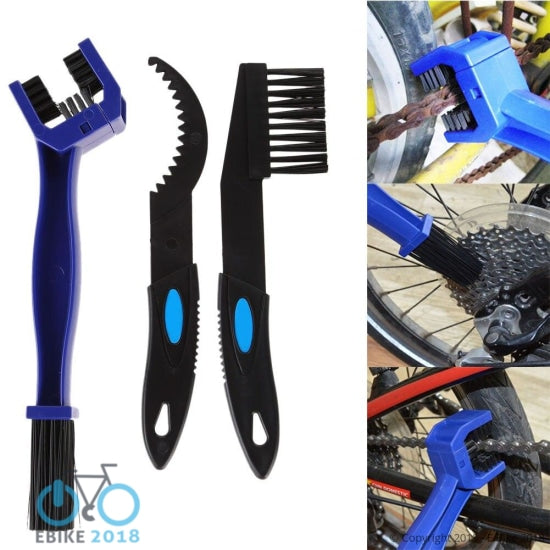1809167548477 - 3 In 1 Mountain Road Bike Chain Gear Cleaning Brush Mtb Bicycle Motorcycle Nylon +Abs Brush Scrubber Tools Cycling Accessories - E Bike 2018