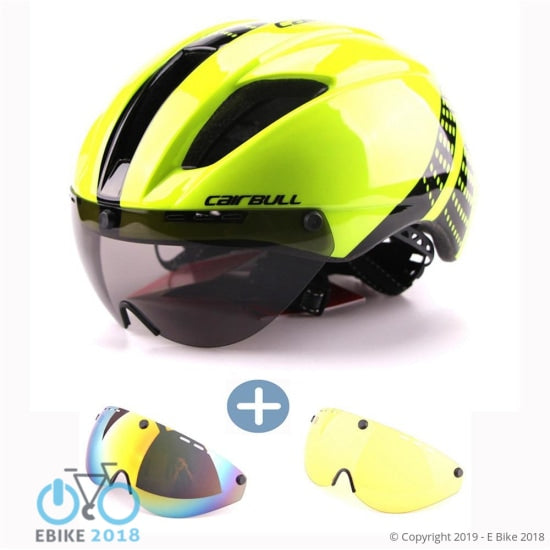 3 Lens Aero Cycling Helmet Road Bike Sports Safety Helmets