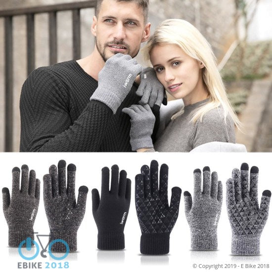 4368798482493 - Winter Lace Warm Cashmere Three Ribs Cute Gloves - E Bike 2018