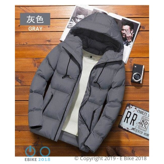 4368771547197 - Cotton Winter Jacket Black And Blue Clip To Overcome - E Bike 2018
