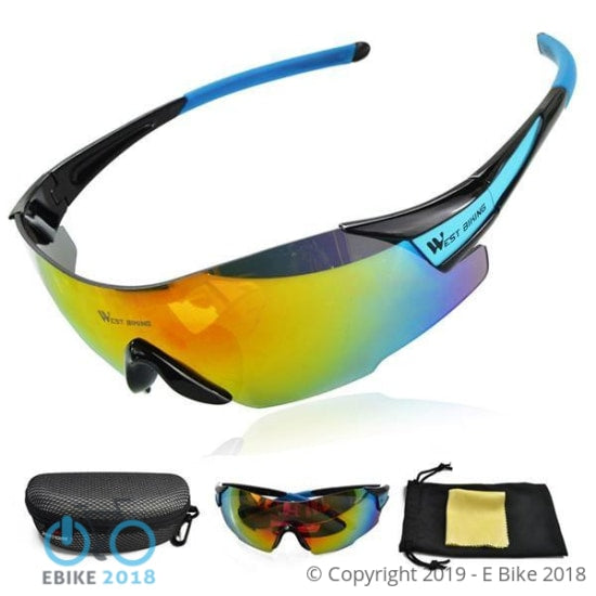 696800608317 - West Biking Cycling Sunglasses Tactical Glasses Windproof Gafas Ciclismo Oriange Box  Mtb Bike Bicycle Cycling Glasses Eyewear - E Bike 2018