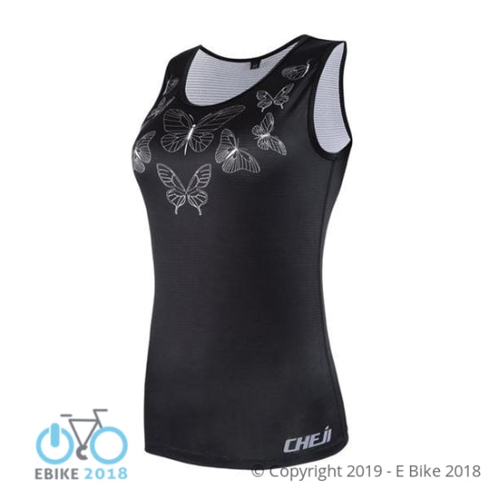 696800149565 - Cheji Bicycle Women Vest Sport Sleeveless Clothes Running Shirt Mesh Fabric Bike Mtb Road Breathable Sportswear Top Cycling Vest - E Bike 2018