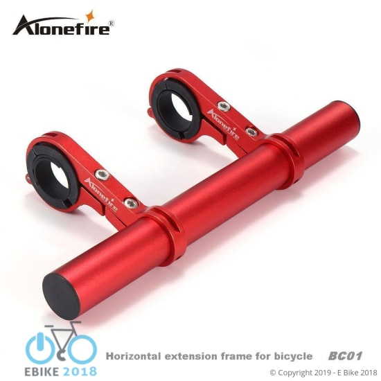 1794138832957 - Alonefrie Bc01 Bike Handle Extender Multifunctional Aluminum Alloy Light Holder Bicycle Extension Frame Cycling Light Clip Holde - E Bike 2018
