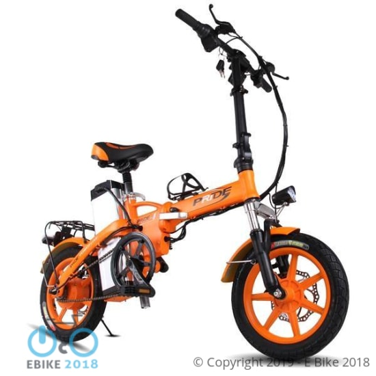 37b787e1005 Pride 14 inch Aluminum Folding Electric Bike 48V23.4A Lithium Battery 250W  with On behalf