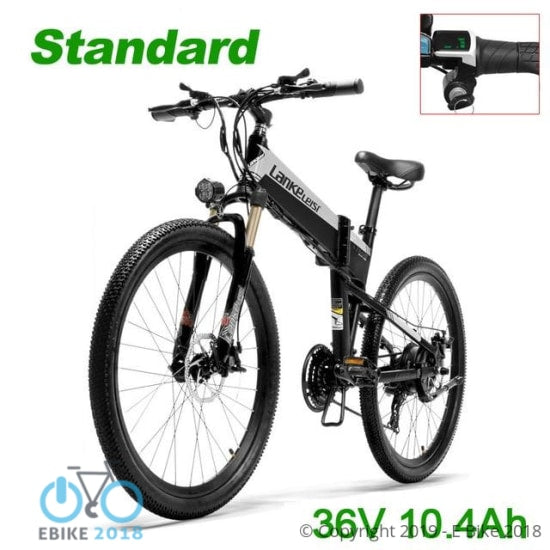 1812510965821 - Xt600 26'' Folding Ebike 400W 12.8Ah Removable Battery 21 Speed Mountain Bike 5 Level Pedal Assist Lockable Suspension Fork - E Bike 2018