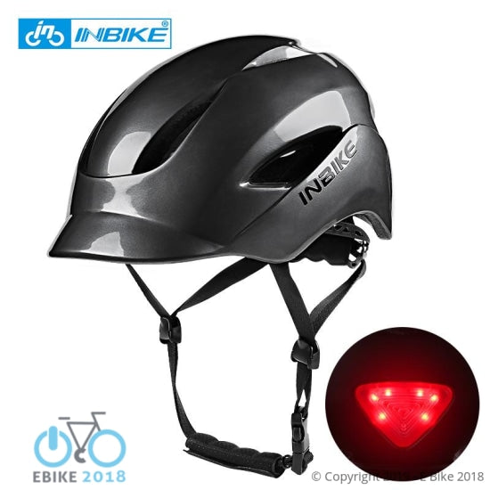 4324952080445 - City Road Cycling Helmet With Taillights - E Bike 2018