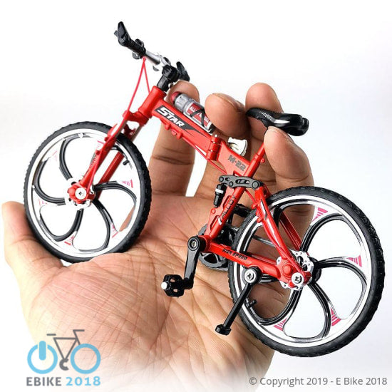 4349260300349 - 1:10 Scale Diecast Metal Bicycle Model Collection Toy - E Bike 2018