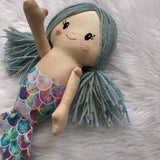 Mermaid Doll - yarn hair and moveable arms (custom order)