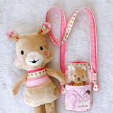 'Carry me with you' stuffed animal with bed/bag