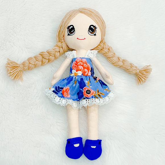 Art Doll - yarn hair and jointed limbs