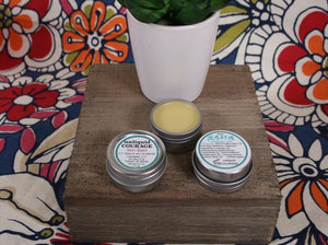 skin balm made with olive oil and beeswax with essential oils