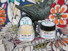 Load image into Gallery viewer, lip scrub made with jojoba oil, organic sugar, and essential oils - rosemary, spearmint, and peppermint