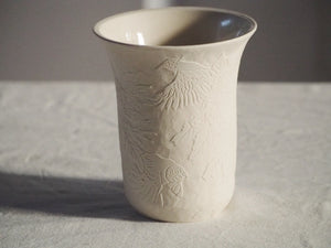 White Chrysanthemum Vase