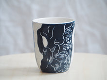 Load image into Gallery viewer, Indigo Abstract Lovers Cup / Small Vase
