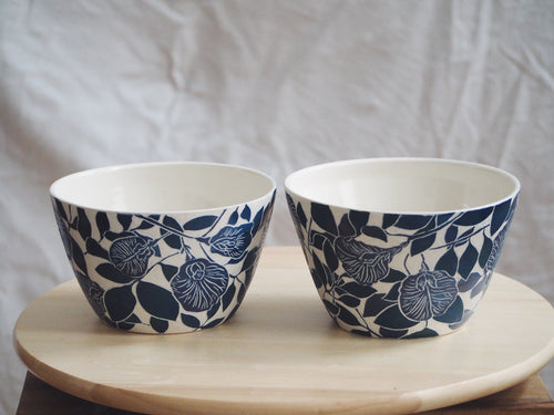 Flora & Fauna Blue Pea Ramen Bowl (Available as a Set of 2)