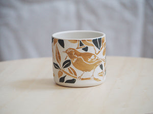 Olive Ochre Bird Mini Planter / Cup III
