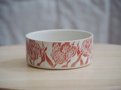 Vermillion Tulip Bowl II