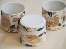 Load image into Gallery viewer, Olive Ochre Bird Mini Planter / Cup II
