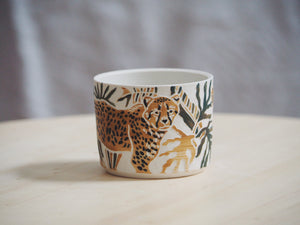 Olive Ochre Cheetah Mini Planter / Cup II