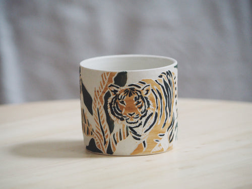 Olive Ochre Tiger Mini Planter / Cup II